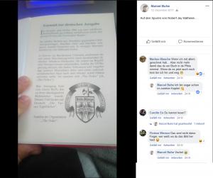 """Positiver Bezug Marcel Buhes zu Robert Jay Matthews (Anführer von """"The Order"""")"""